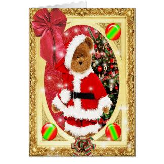 Santas Teddy Greeting Card