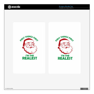 Santas The Realest Decal For Kindle Fire