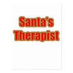 Santa's Therapist Postcard