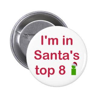 Santa's Top 8 2 Inch Round Button