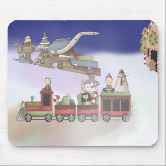 Santa's Train Mousepads