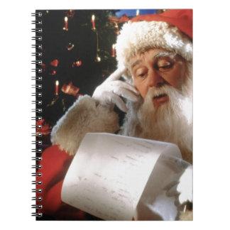 Santas traviesos y Niza lista Libro De Apuntes Con Espiral