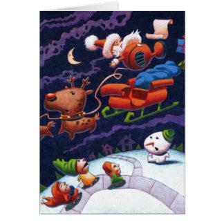 Santa's Trippin' Greeting Card