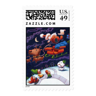 Santa's Trippin' NEW Stamp