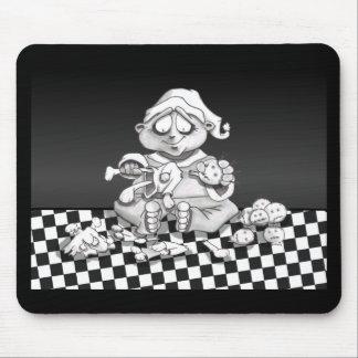 santas twisted helper mouse pad
