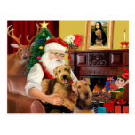 Santas Two Airedales Post Cards