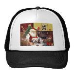 Santa's Two Bearded Collies Trucker Hat