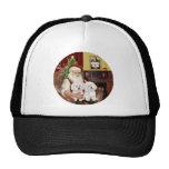 Santa's Two Bichon Frise Trucker Hat