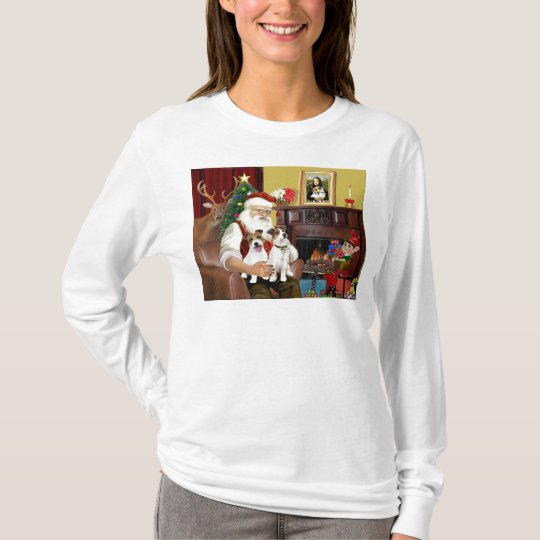 Santa's Two Jack Russell Terriers T-Shirt