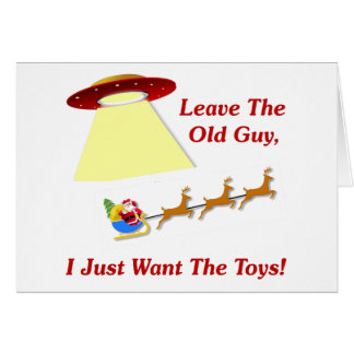 Santa's UFO Encounter Card