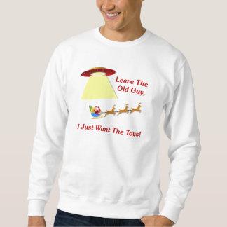 Santa's UFO Encounter Pullover Sweatshirts
