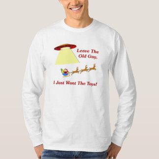 Santa's UFO Encounter Tshirt