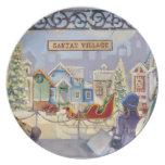 Santa's Village Dinner Plates