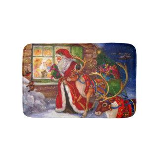 Santa's Visit Bath Mats