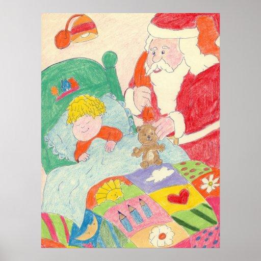 Santa's Visit Canvas Poster