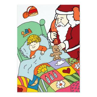 Santa's Visit Christmas Invitation