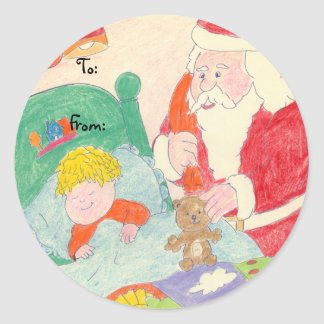 Santa's Visit gift tag stickers