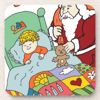 Santa's Visit II Beverage Coaster