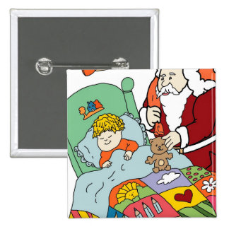 Santa's Visit II Button