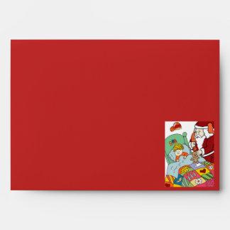Santa's Visit II Envelopes