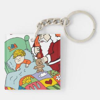 Santa's Visit II Keychain