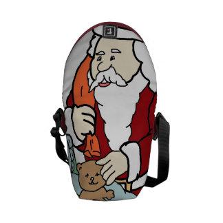 Santa's Visit II Messenger Bag