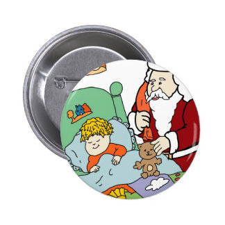 Santa's Visit II Pinback Button
