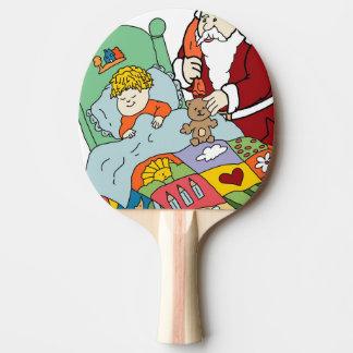 Santa's Visit II Ping Pong Paddle