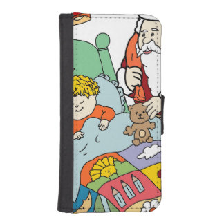 Santa's Visit II iPhone 5 Wallet Cases