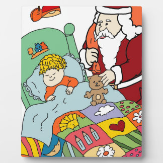 Santa's Visit II Display Plaque