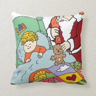 Santa's Visit II Throw Pillow