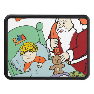 Santa's Visit II Tow Hitch Cover