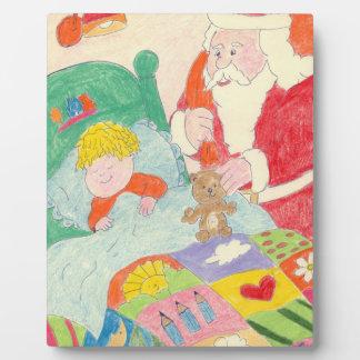Santa's Visit Photo Plaques