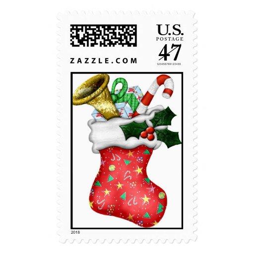 Santa's Visit Postage Stamp