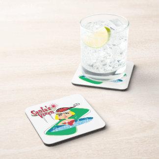 Santa's Vixen Beverage Coaster