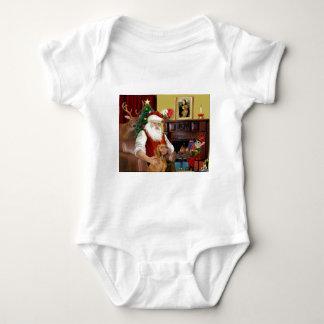 Santa's Vizsla Baby Bodysuit