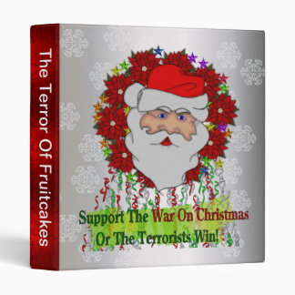 Santa's War On Xmas Binder