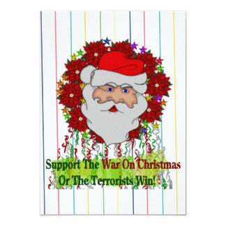 Santa's War On Xmas 5x7 Paper Invitation Card