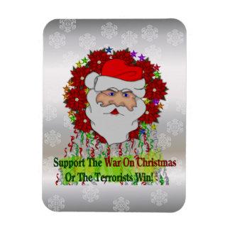 Santa's War On Xmas Magnet
