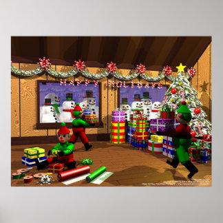Santa's Warehouse Print