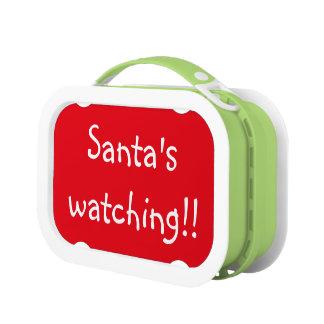 Santa's watching lunch box