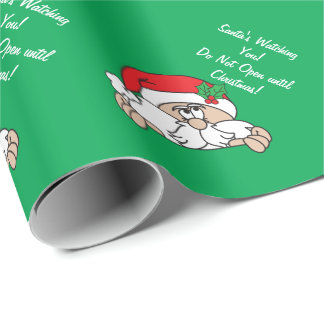 Santa's Watching You | Christmas Wrapping Paper