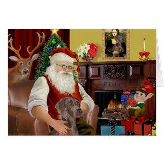 Santa's Weimaraner (N) Card