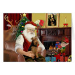 Santa's Welsh Terrier Greeting Card