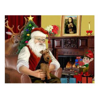 Santa's Welsh Terrier Post Cards