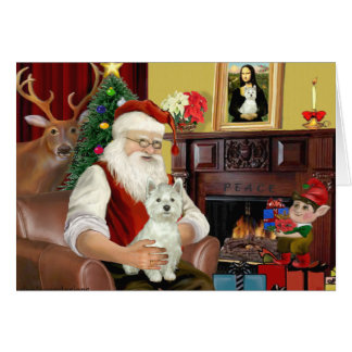Santa's West Highland Terrier 8 - Santa Card