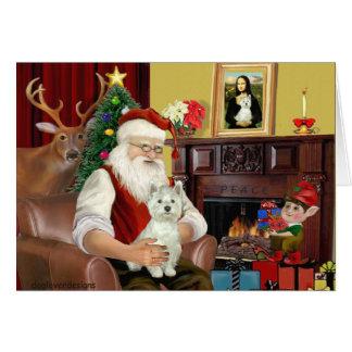 Santa's West Highland Terrier Card