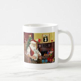 Santa's West Highland Terrier Coffee Mugs