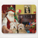 Santa's Wheaten Terriers (TWO) Mouse Pads