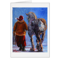 Santa's Wheeler  by S. Fuess Card